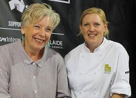 ACH Group aged care chef, Katie Otto with food identity, Maggie Beer in 2014