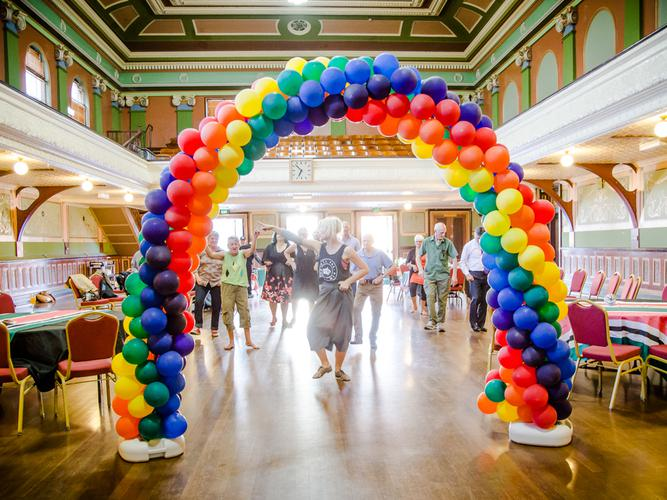 Senior LGBTI dance group gets together once a month in the lead up to the ball in October (Source: Starling Communications)
