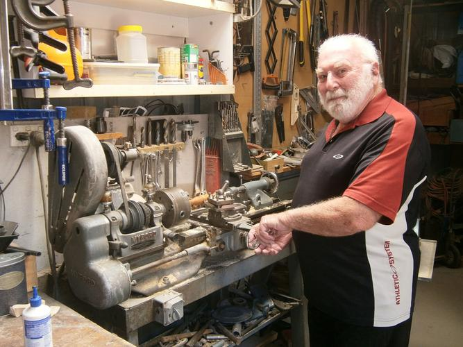 Bill Black in his workshop