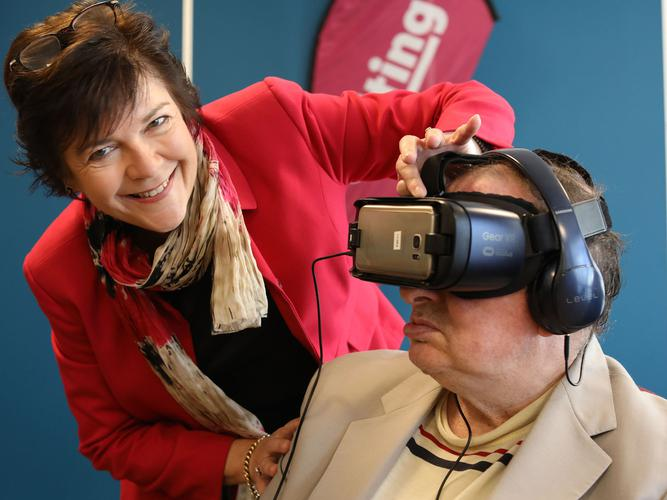 Uniting piloting the virtual reality technology to fulfil resident bucket list items (Source: Uniting)