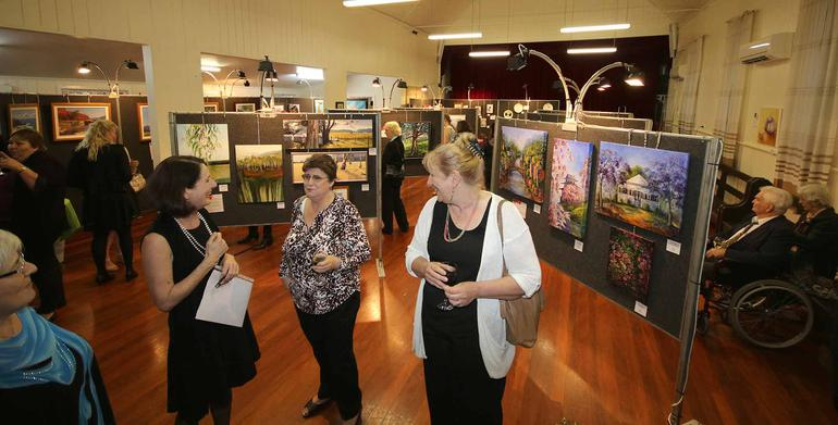 Residents artworks on display at Lutheran Community Care's Zion aged care annual art exhibition