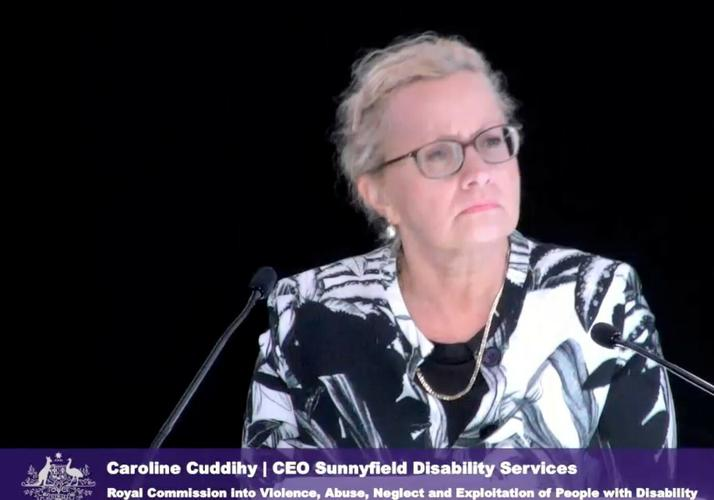 Sunnyfield Disability Services CEO Caroline Cuddihy fronted the disability royal commission over three days last week. [Source: Disability Royal Commission]
