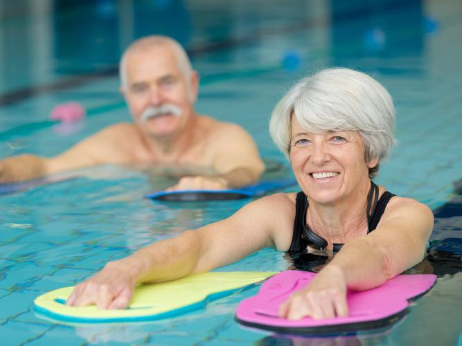 University of the Sunshine Coast researchers will contribute to the national exercise project by holding an aquatic class for people over the age of 65.​​ [Source: Shutterstock]