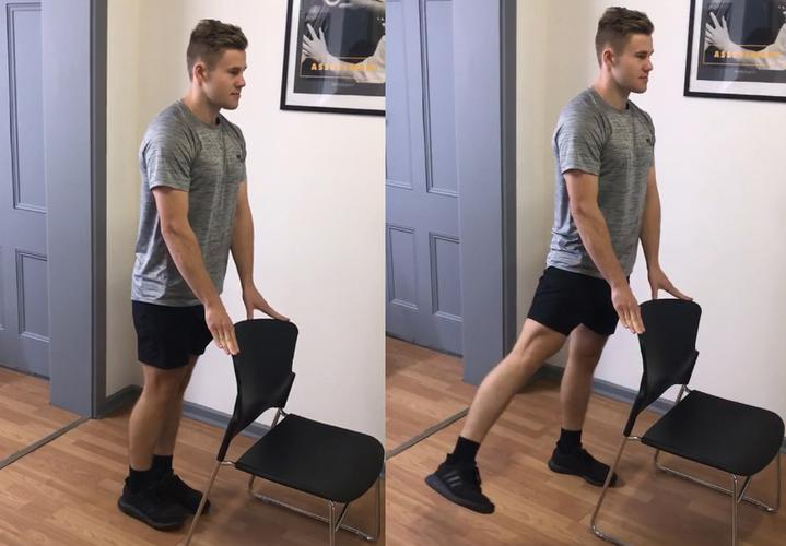 Standing hip abductions. [Source: PhysioWest]