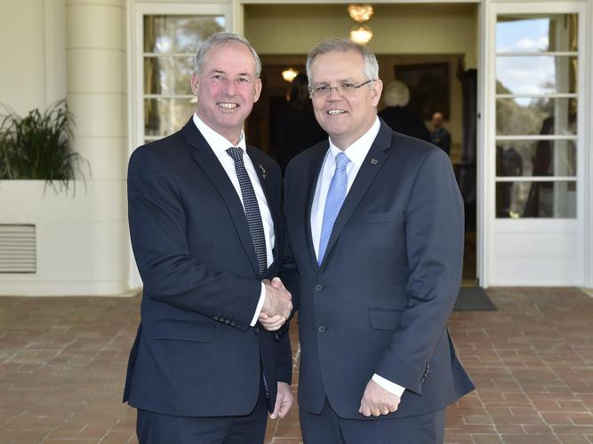 New Senator Richard Colbeck with newly re-elected Prime Minister Scott Morrison. [Source: Office of Senator the Hon Richard Colbeck]