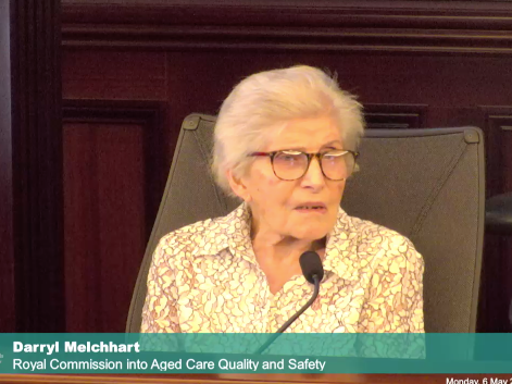 Ms Darryl Melchhart believes people with dementia need to have their own seperate ward after multiple violent incidents with dementia patients in her aged care facility. [Source: Royal Commission].