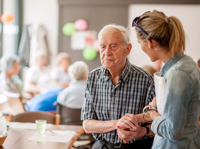 A little support makes a lot of difference and can assist a person with dementia in living a full, happy and active life. [Source: iStock]