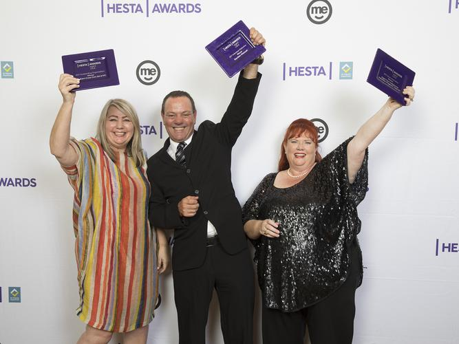 The three 2017 HESTA Aged Care Award winners (Source: HESTA)