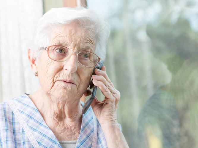 If a recipient of home care services decides to suspend their care services at home, the recipient will receive a regular phone call to check up on how they are managing. [Source: Shutterstock]
