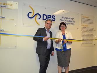 DPS CEO Mark Ogden with SA Minister for Ageing Zoe Bettison at the official event (Source: DPS Publishing)