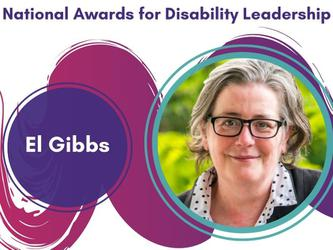 El Gibbs received the Lesley Hall Award for Lifetime Achievement Award on IDPwD. [Source: Disability Leadership Institute]
